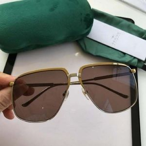 Gucci GG0365S Pilot Gold Metal Frame Sunglasses